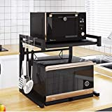 Microwave Oven Rack, Microwave Counter Stand Storage Organizer, Expandable and Length Adjustable Microwave Shelf.Kitchen Tabl