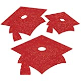 Red Glitter Mini Mortarboard Graduation Cutouts レッドグリッターミニ帽の卒業スカルプチャ?ハロウィン?クリスマス?