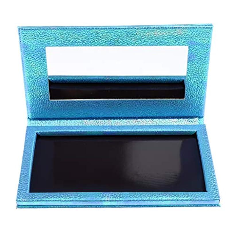 法的設置スキップP Prettyia 空 磁気 アイシャドウボックス アイシャドウケース パレット 全2色 - 青