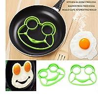 ホット1pcの朝食朝食のシリコンウサギ揚げ卵鋳型パンケーキリングシェイパークッキングツールキッチンガジェットキッドギフト株式卵鋳型