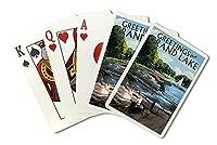 エリー、ミシガン州–Greetings from Grand湖( Playingカードデッキ–52カードPokerサイズwithジョーカー)