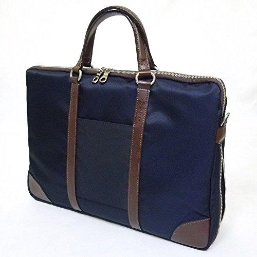 十川鞄 Brighton ブライトン ラウル ビジネス 2way ビジネス ブリーフケースショルダーバッグ B4 Mサイズ エキスパンダブル 日本製 ネイビー BRL-14000 NV