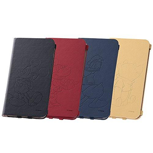 レイ・アウト iPhone6 Plus(5.5インチ)用 ディズニー・テクスチャー・ブックタイプレザージャケット ミニーマウス RT-DP8P/MN