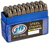 """Advanced Tool Design Model ATD-9600 27 Piece 3/16"""" Steel Letter Stamp Set [並行輸入品]"""