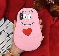 シリコン製 可愛らしいバーバパパiphoneケース barbapapa携帯ケース スマホケース アイフォンXr携帯ケース 耐衝撃 (iPhoneXr)