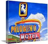 """「ルート66レトロネオンサイン壁アートプリントat Palomino Motel、tucumc by Warrenキーティング 46"""" x 36"""" 4748131_5_can"""