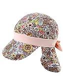 Vaenait Babyベビー 子供水着日焼け予防UVカットフラップキャップ帽子 Floral S