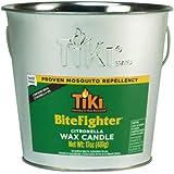 TIKI Brand 1418014 17 oz. BiteFighter Galvanized Citronella Wax Candle Metal Bucket Silver Tiki Torch, 5.00,