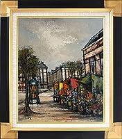 C・ファルシ『ヨーロッパの街並(F6号)』油彩画