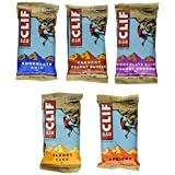 Clif Bar Variety Pack, 6 Flavors X 2 of Each (Chocolate Chip , Crunchy Peanut Butter, Choc Chip Peanut Crunch , Carrot Cake , Apricot , Banana Nut Bread