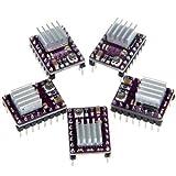 Anycubic 3Dプリンタ Reprap RP A4988用 5x StepStick DRV8825 ステッパ モータ ドライバ モジュール 5個入