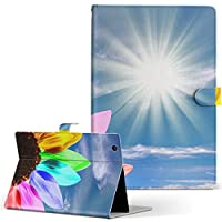igcase Xperia Z4 Tablet SO-05G タブレット 手帳型 タブレットケース タブレットカバー カバー レザー ケース 手帳タイプ フリップ ダイアリー 二つ折り 直接貼り付けタイプ 003165 ユニーク フラワー 花 カラフル 空 写真