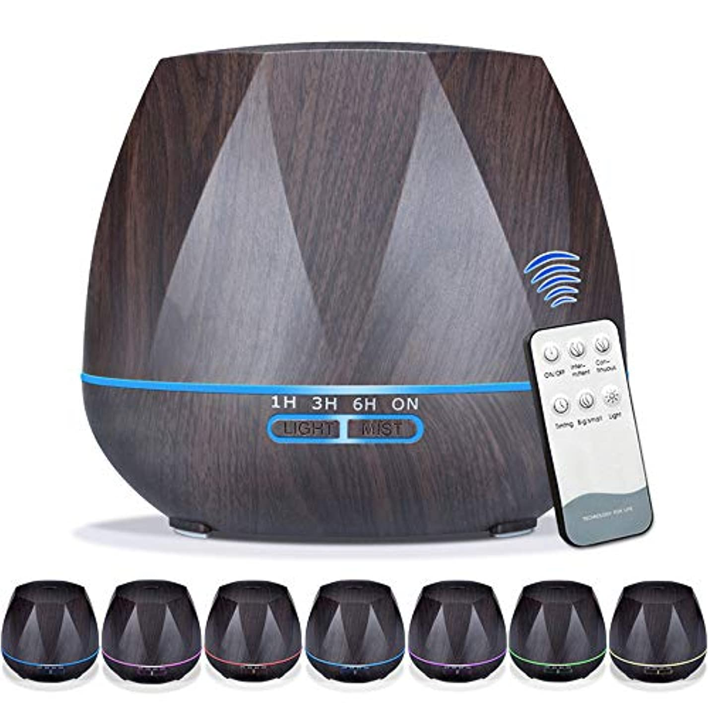 約設定散歩故意の550mlエッセンシャルオイルディフューザー5に1アロマセラピー超音波クールミスト加湿器ルーム空気香りホームオフィスギフト用,EUplug