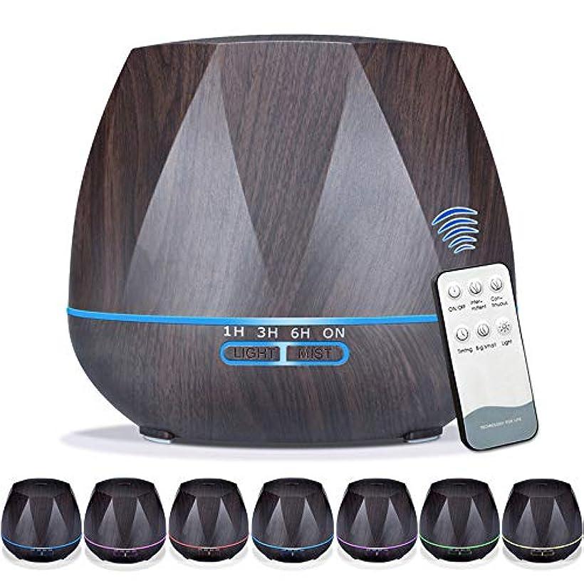 スラダムあなたのもの眩惑する550mlエッセンシャルオイルディフューザー5に1アロマセラピー超音波クールミスト加湿器ルーム空気香りホームオフィスギフト用,EUplug