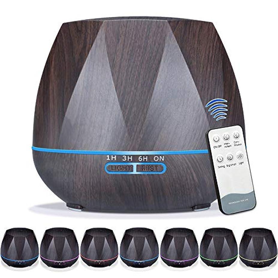 アラバマ漏斗中止します550mlエッセンシャルオイルディフューザー5に1アロマセラピー超音波クールミスト加湿器ルーム空気香りホームオフィスギフト用,EUplug