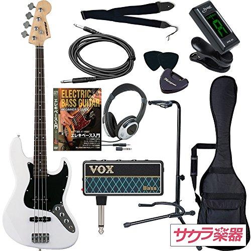 SELDER セルダー ベース ジャズベースタイプ JB-30/WH VOX amPlug2【アンプラグ2 AP-BS(BASS)】サクラ楽器オリジナルセット