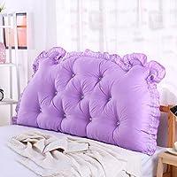 枕 ベッドサイドクッションダブルバッククッションソファ背もたれトライアングルロングソファベッドベッドピローコットンウエスト 戻る (色 : 5, サイズ さいず : 1.2m)