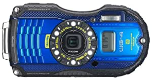 RICOH 防水デジタルカメラ RICOH WG-4GPS ブルー 防水14m耐ショック2.0m耐寒-10度 RICOH WG-4GPSBL 08558