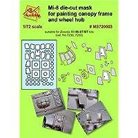 DAN MODELS MI-8 ダイカットマスク 塗装キャノピーフレームとホイールHUP MS720003