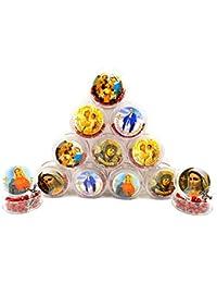 Lot of 12ロザリオビーズカトリックネックレスローズ香りつきwithエルサレムクロス十字架Holy Landギフト