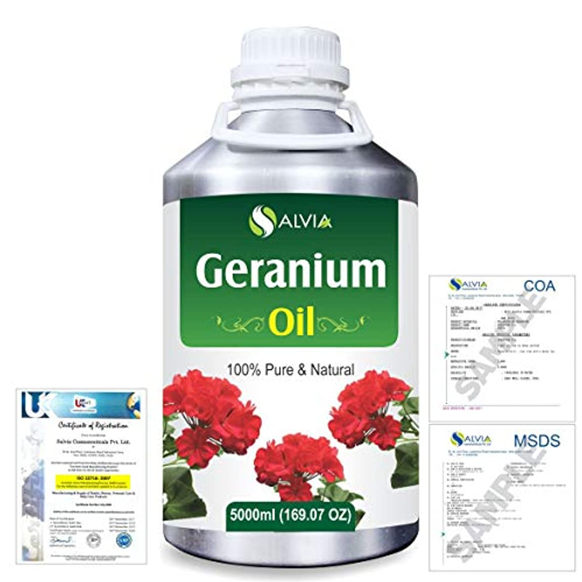 はちみつ明確なコントロールGeranium (Pelargonium Geranium) 100% Natural Pure Essential Oil 5000ml/169fl.oz.