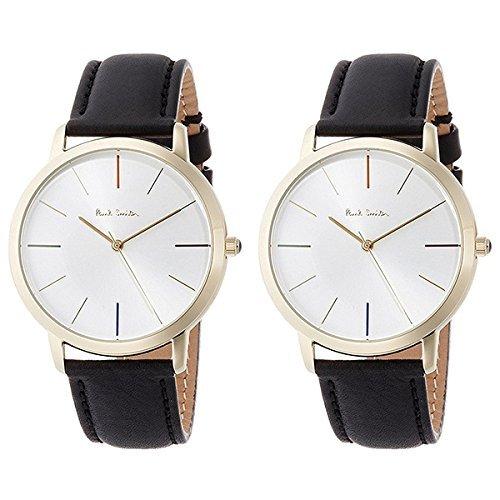 [ポールスミス]Paul Smith メンズ レディース ペアウォッチ MA シルバー文字盤 ブラックレザー P10059P10059 腕時計 [並行輸入品]