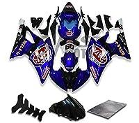 9FastMotoyamaha ヤマハ R6 YZF-600 2008 2009 2010 2011 2012 2013 2014 2015 用フェアリング オートバイフェアリングキット ABS 射出成形セット スポーツバイク カウル パネル (ブルー) Y1102