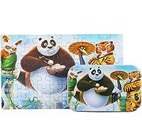 POOM60 ピース/セット漫画木製おもちゃ 3D 木製パズル鉄ボックスパッケージジグソーパズル子供の教育モンテッソーリ木製パズルパズル 知育