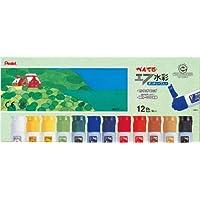ぺんてる 絵の具 エフ水彩 WFC1-12 ポリチューブ入り 12色