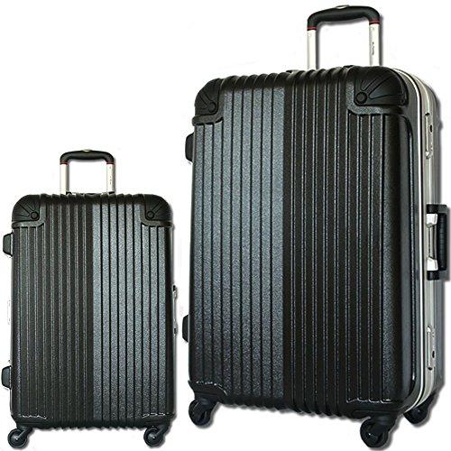 スーツケース 軽量 フレーム TSAロック 旅行かばん トラベルバッグ キャリーバッグ 玄武 (大型、LM、26, ブラック)