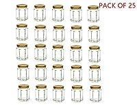 (100ML, Pack of 25) - 120ml Hexagon Glass Jars 25 pack (25, 120ml)