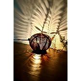 間接照明 スタンドライト ♪ココナツの実ランプ(バナナリーフ柄)♪ アジアン照明 バリ おしゃれ フロアスタンド