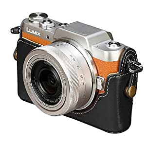 HAKUBA カメラ ケース本革ボディケース Panasonic LUMIX GF7専用 ブラック DBC-GF7BK