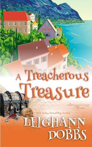 Download A Treacherous Treasure (Mooseamuck Island Cozy Mystery) 1523955201