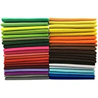 40枚 カラーフェルト 柔軟 手芸材料 DIY手作り用 生地 ハンドメイド 厚さ1.4mm 不織布 選べるサイズ (30cm×30cm)