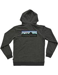 【パタゴニア】 Patagonia M's P-6 Logo MW Full-Zip Hoody 39461 BLK ブラック ロゴ フルジップ パーカー 【並行輸入品】