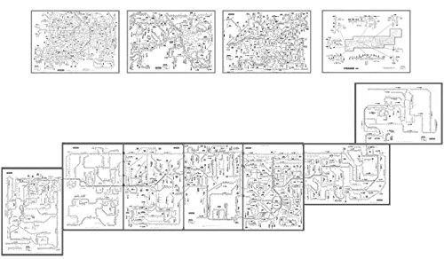 「乗りつぶし用 白路線図」 上から書き込んで鉄道旅行を楽しむ鉄道白路線図 (A3、B3 11枚セット) 全路線全駅掲載 【路線図屋】