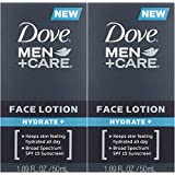 【アメリカ発送】 Dove Men+Care Face Lotion, Hydrate+ 1.69 oz ダブ 男性用 フェイスローション 潤い SPF 15 50ml
