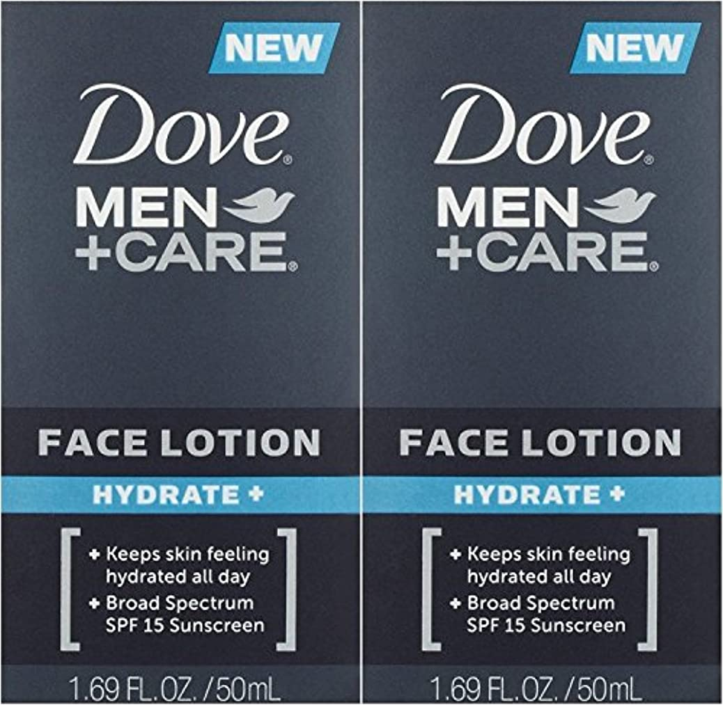 ジョージスティーブンソンまた明日ねタイト【アメリカ発送】 Dove Men+Care Face Lotion, Hydrate+ 1.69 oz ダブ 男性用 フェイスローション 潤い SPF 15 50ml