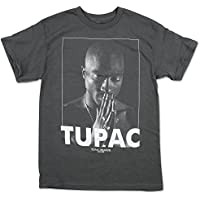 Rockline BRA-31781028-M Tupac Praying Charcoal T-Shirt - Medium44; Charcoal Gray