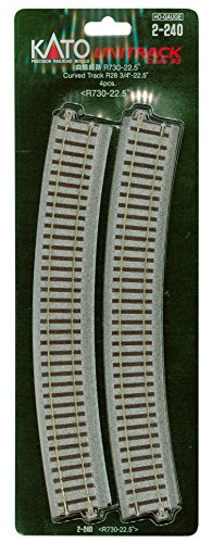 HOユニトラック線路 曲線線路 R730-22.5° (4本入) #2-240