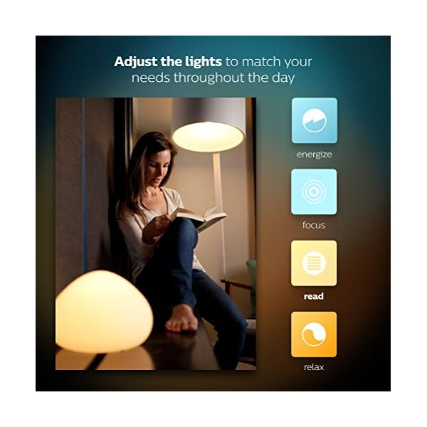 Philips Hue White Ambiance Smart Bulb Starter Kit - Edison Screw E27 (Compatible with Amazon Alexa, Apple HomeKit, and Google Assistant) 3
