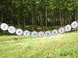 (ウエディングランド)WEDDINGLAND ガーランド 結婚式 ウエディング JUST MARRIED サークル ペナント 小物 アイテム ウエディングフォト ステッカー バナー パーティー 装飾 フォトアイテム