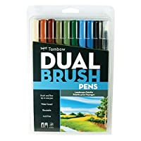 Tombow Dual Brush Markers Landscape 10-Pack 【Creative Arts】 [並行輸入品]