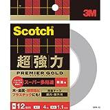 3M スコッチ  超強力両面テープ プレミアゴールド スーパー多用途 粗面用 SPR