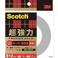 3Mスコッチ超強力両面テーププレミアゴールドスーパー多用途粗面SPR-12