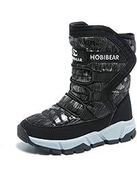[BODATU] スノーブーツ キッズブーツ 防水冬靴 保暖 アウトドア ウインターブーツ雪用ブーツジュニア男の子 女の子