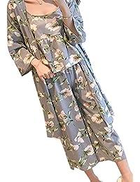 [ニーマンバイ] 花柄 ルームウェア 3点セット 抜け感 部屋着 パジャマ キャミソール レディース M~XL