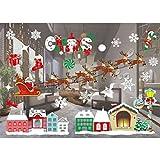 B-PING クリスマスシール 壁紙装飾 ウォールステッカー  新年の窓の装飾の壁のステッカー ショーウインドウ飾り (色9)