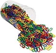 Learning Resources Link 'N' Learn Links, Bucket of 500 Assorted Color Links, Ages 3+, 1-5/8